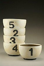 Number Bowls by Nathan  Falter (Ceramic Bowl)