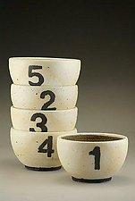 Number Bowls by Nathan  Falter (Ceramic Bowl)