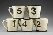 Number Mugs by Nathan  Falter (Ceramic Mug)