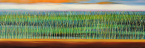 Reeds Underwater #2 by Mary Johnston (Oil Painting)
