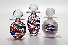 Helix Perfume Bottles by Michael Trimpol and Monique LaJeunesse (Art Glass Perfume Bottle)