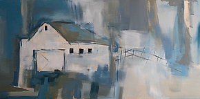 White Barn by Jane Robinson (Acrylic Painting)