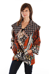 Flare Jacket #1 by Mieko Mintz  (One Size (2-16), One of a Kind Jacket)