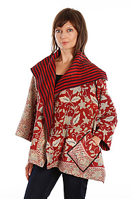 Flare Jacket #3 by Mieko Mintz  (One Size (2-16), One of a Kind Jacket)