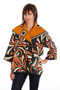 Flare Jacket #5 by Mieko Mintz  (One Size (2-16), One of a Kind Jacket)
