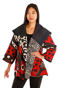 Flare Jacket #7 by Mieko Mintz  (One Size (2-16), One of a Kind Jacket)