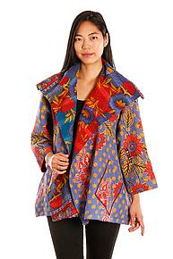 Flare Jacket #8 by Mieko Mintz  (One Size (2-16), One of a Kind Jacket)