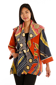 Flare Jacket #10 by Mieko Mintz  (One Size (2-16), One of a Kind Jacket)