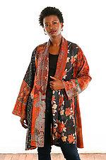 Silk Kimono Jacket #3 by Mieko Mintz  (One Size (2-20), One of a Kind Jacket)