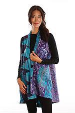 Silk A-Liine Vest #1 by Mieko Mintz  (Size 1 (2-12), One of a Kind Vest)