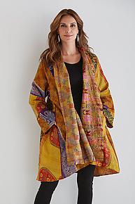 Silk Kimono Jacket #4 by Mieko Mintz  (One Size (2-20), One of a Kind Jacket)