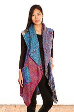 Silk Circular Vest #3 by Mieko Mintz  (Size 1 (2-12), One of a Kind Vest)