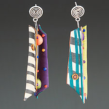 Razor Shell Multi Mix 1 by Arden Bardol (Polymer Clay Earrings)