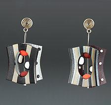 Lantern Long Neutral Black by Arden Bardol (Polymer Clay Earrings)