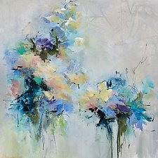 Blue Fusion by Karen  Hale (Acrylic Painting)