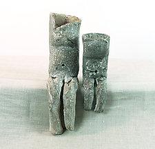Belly Button Group #2 by Loren Yagoda (Ceramic Sculpture)
