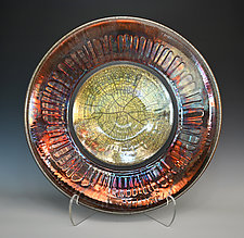 Sunburst Raku Bowl by Tom Neugebauer (Ceramic Bowl)