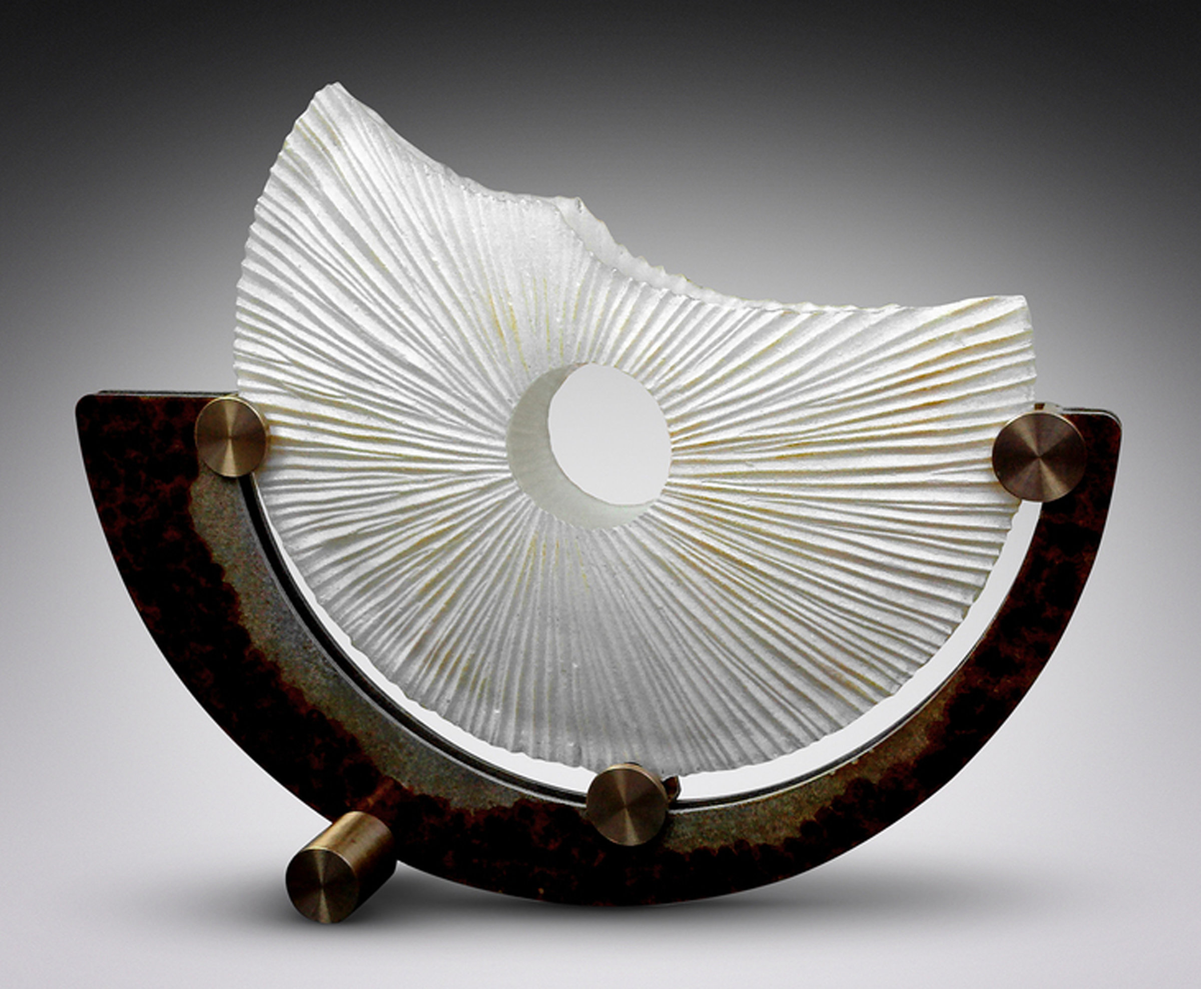 Artful Home Shells Enduring Life By Kevin Lubbers Art Glass Bronze Steel