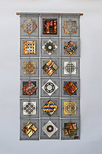 Scrapyard Quilt 5 by Frances Solar (Metal Wall Sculpture)