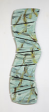 Turquoise Jungle by Kristi Sloniger (Ceramic Wall Sculpture)
