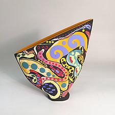 Small Prism Sailvase by Jean Elton (Ceramic Vessel)