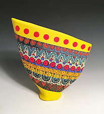 Small Geometric Sailvase by Jean Elton (Ceramic Vase)
