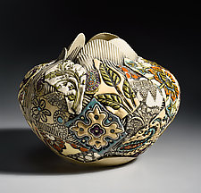 Large Round Vessel by Gail Markiewicz (Ceramic Vessel)