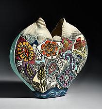 Heart Vase by Gail Markiewicz (Ceramic Vase)