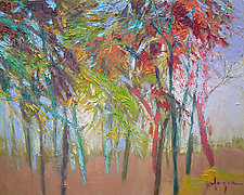 Glow in the Woods by Dorothy Fagan (Oil Painting)