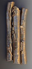 Birch in Bronze by Lenore Lampi (Ceramic Wall Sculpture)
