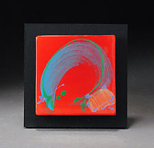 Red Wall Tile by Michael  Kifer (Ceramic Wall Sculpture)