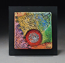 Textured Wall Tile by Michael  Kifer (Ceramic Wall Sculpture)