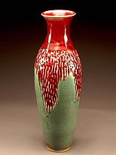 Minor Southwest Red & Turquoise Vase by Daniel  Bennett (Ceramic Vessel)