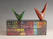 Polkapalooza by Patty Carmody Smith (Mixed-Media Sculpture)