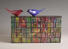 Love Birds by Patty Carmody Smith (Mixed-Media Sculpture)