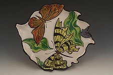 Plate with Swallowtail Butterfly by Farraday Newsome (Ceramic Plate)