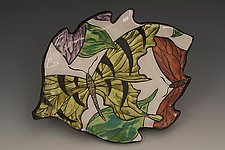Small Plate with Swallowtail Butterfly by Farraday Newsome (Ceramic Plate)