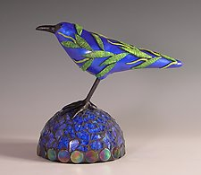 True Blue by Patty Carmody Smith (Mixed-Media Sculpture)