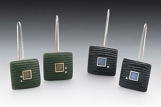 Carved Square Earring