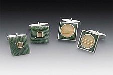 Cufflinks by Eileen Sutton (Silver & Resin Cufflinks)
