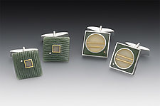 Cuff Links by Eileen Sutton (Silver & Resin Cufflinks)