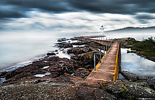 Grand Marais Lighthouse in Fog by Matt Anderson (Color Photograph)