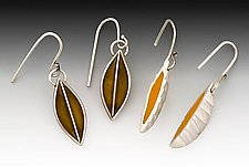 Leaf Earrings by Eileen Sutton (Silver & Resin Earrings)