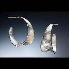 Textured Anticlastic Hoop by Stephen LeBlanc (Metal Earrings)