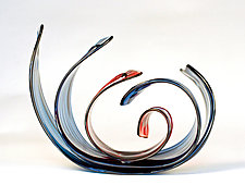 Ruby Blue by April Wagner (Art Glass Sculpture)