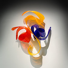 Choreia by April Wagner (Art Glass Wall Sculpture)