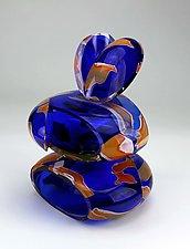 Remnant Vessel in Cobalt Blue by Justin Hunting (Glass Sculpture)