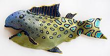 Blue Tongue Tuna by Byron Williamson (Ceramic Wall Sculpture)