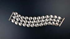 Triple Disk Bracelet by Molly Strader (Silver Bracelet)