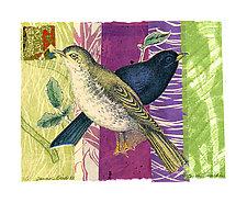 Sunrise Birds #11 by Ouida  Touchon (Monotype Print)